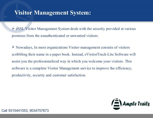 Visitor management System Call Now 9034757673