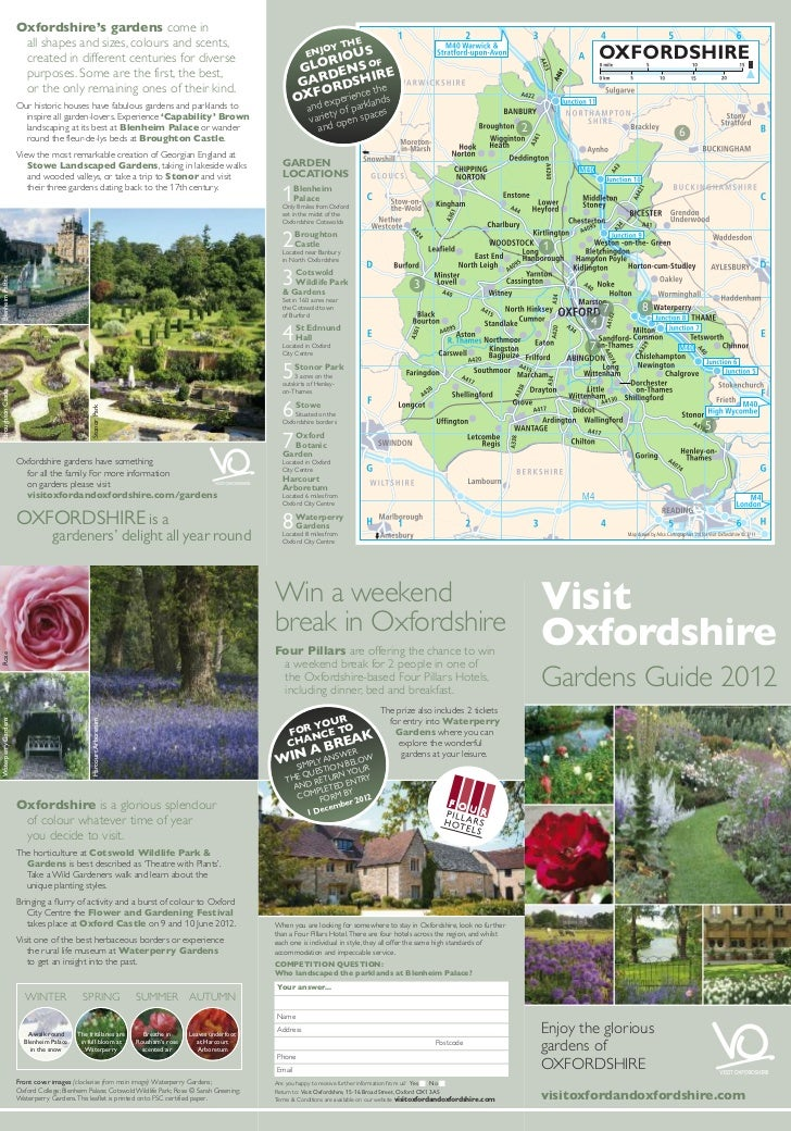 Oxfordshire's gardens come in                      all shapes and sizes, colours and scents,                              ...