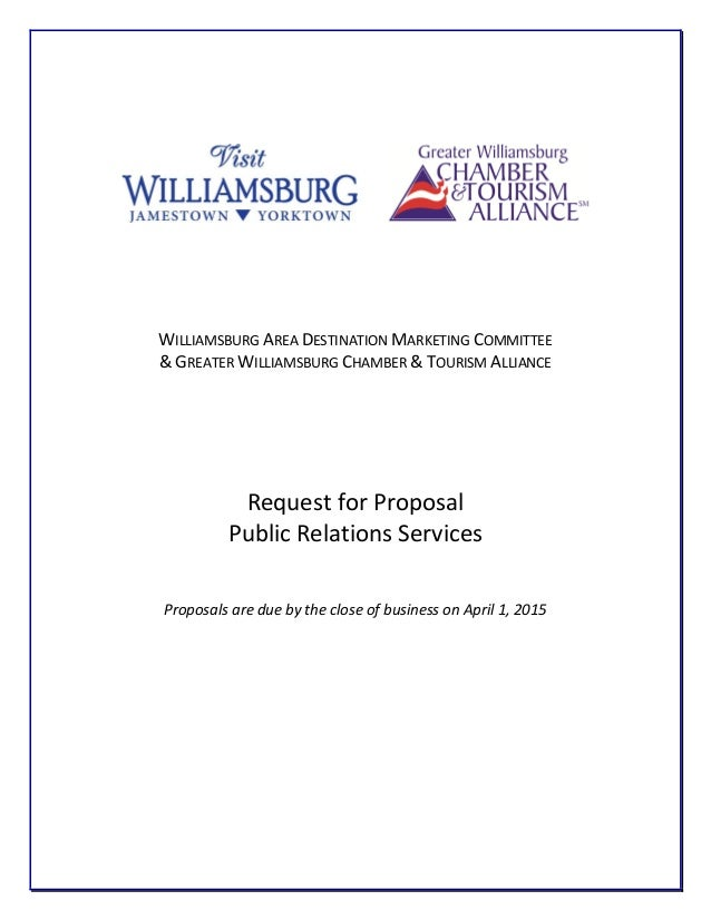 Visit Williamsburg PR Agency Request for Proposal - RFP