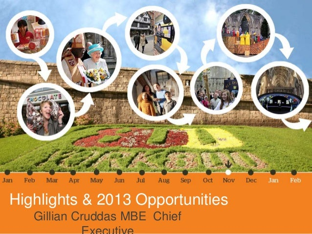 Highlights & 2013 Opportunities   Gillian Cruddas MBE Chief