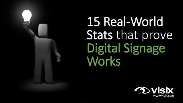 15 Real-World Stats that prove Digital Signage Works www.visix.com