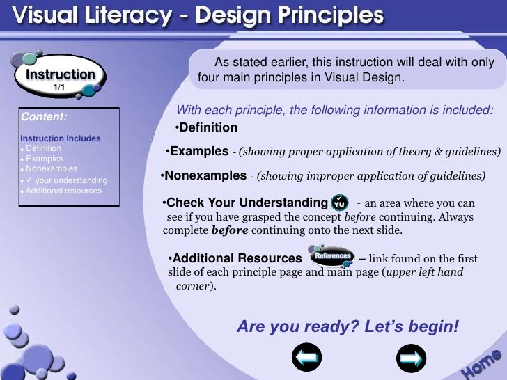 Visual Design Principles : Visual literacy design principles