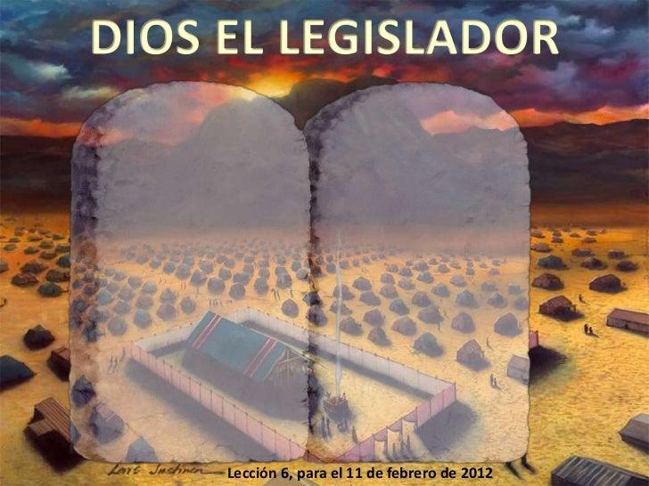 Lección 6, para el 11 de febrero de 2012