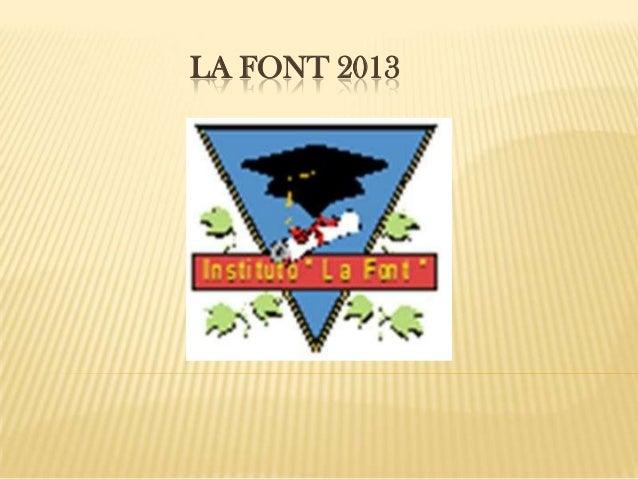 LA FONT 2013