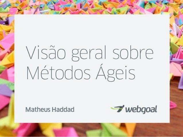 Visão geral sobreMétodos ÁgeisMatheus Haddad