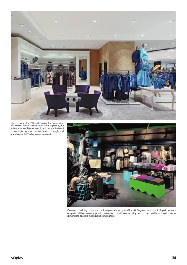 """25  Display decor at the POS with two display mannequins.  The theme """"festive evening wear"""" is highlighted by the  colour ..."""