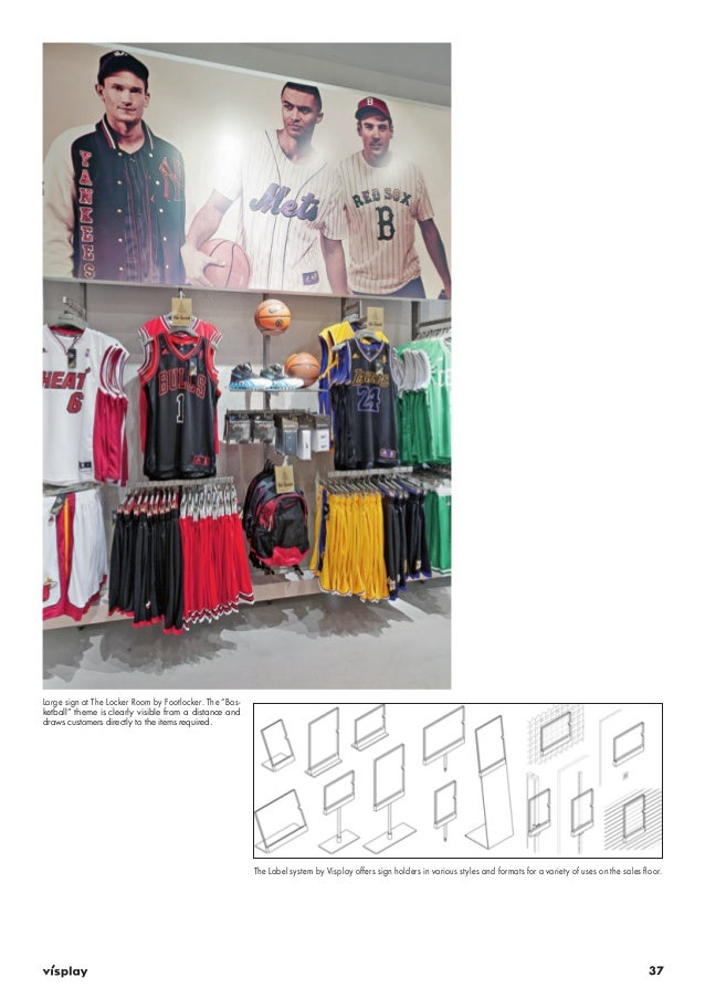 """37  Large sign at The Locker Room by Footlocker. The """"Bas-ketball""""  theme is clearly visible from a distance and  draws cu..."""