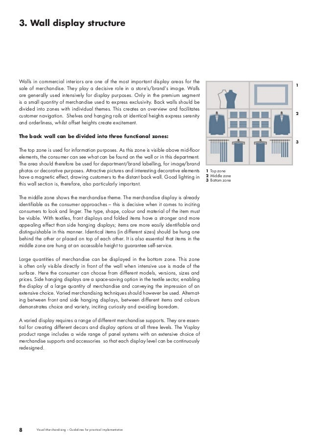 3. Wall display structure  8 Visual Merchandising – Guidelines for practical implementation  1 Top zone  2 Middle zone  3 ...