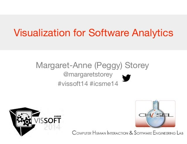 Visualization for Software Analytics  Margaret-Anne (Peggy) Storey  @margaretstorey  #vissoft14 #icsme14  @margaretstorey ...