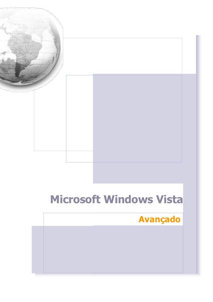 Microsoft Windows Vista               Avançado