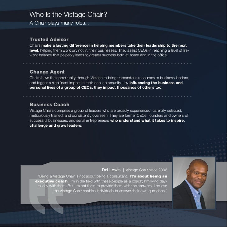 vistage chair brochure 2011