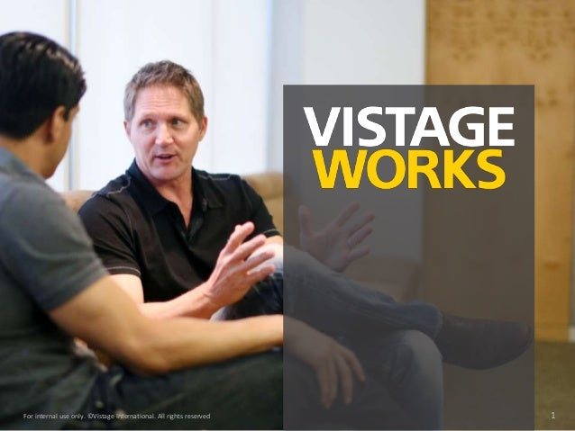 For internal use only. ©Vistage International. All rights reserved 1