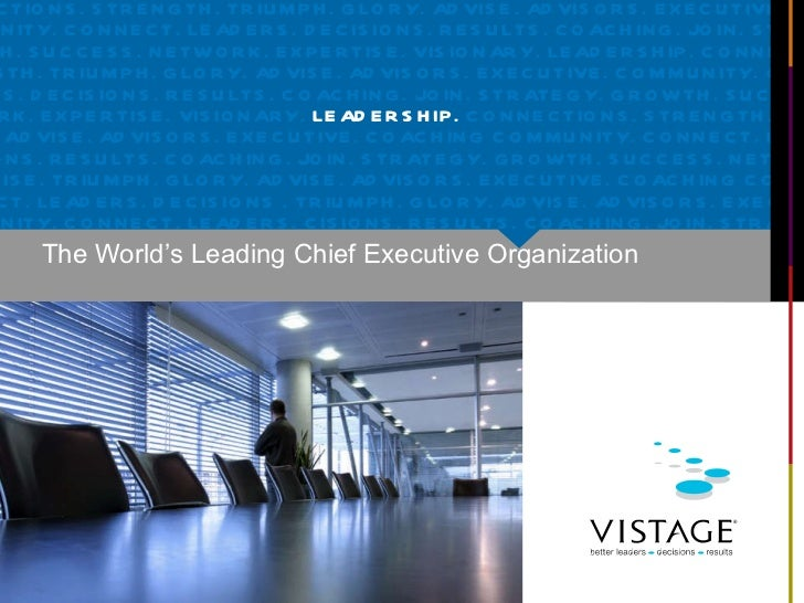 The World's Leading Chief Executive Organization