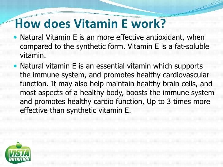 Vista Nutrition Vitamin E