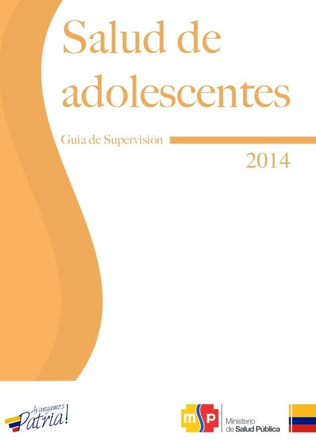 Guía de Supervisión 2014 Salud de adolescentes