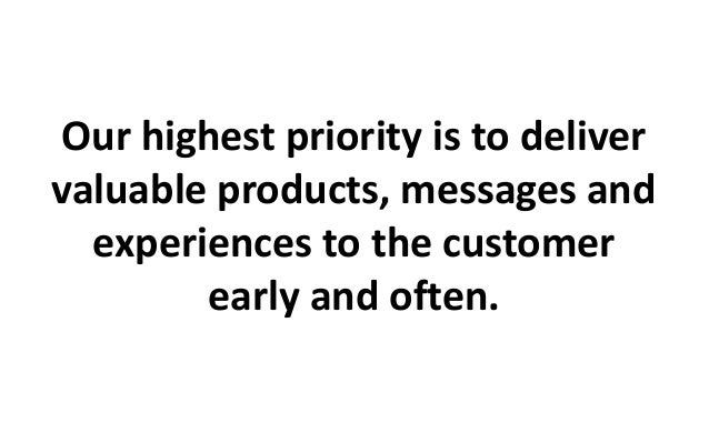 Vistaprint's updated agile marketing values and principles