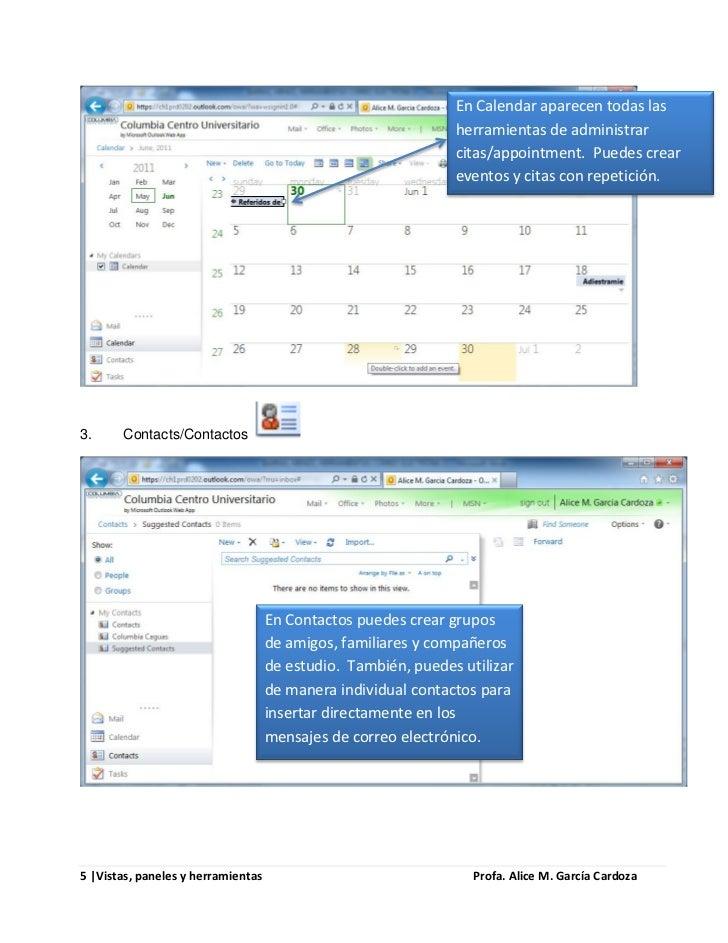 En Calendar aparecen todas las                                                               herramientas de administrar  ...