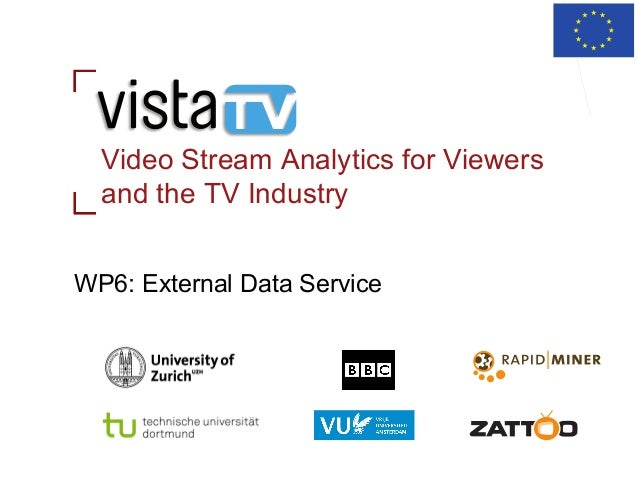 Video Stream Analytics for Viewers and the TV Industry WP6: External Data Service