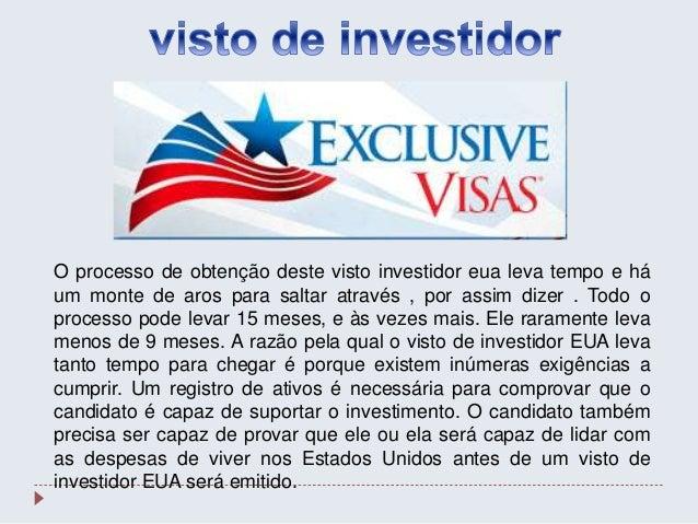 O processo de obtenção deste visto investidor eua leva tempo e há um monte de aros para saltar através , por assim dizer ....