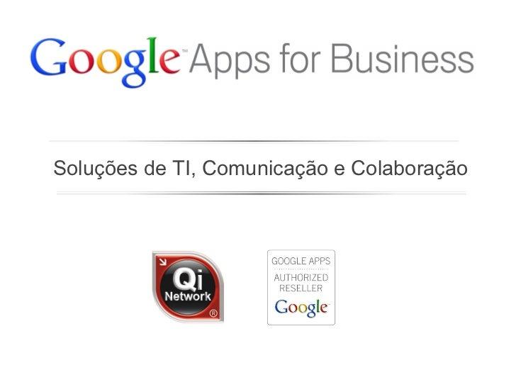 Soluções de TI, Comunicação e Colaboração