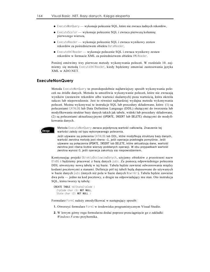Visual Basic Net Bazy Danych Księga Eksperta