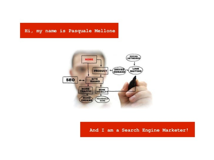 Hi, my name is Pasquale Mellone And I am a Search Engine Marketer!