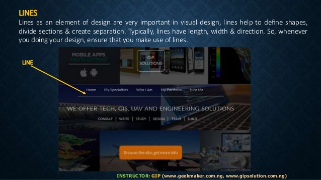 Define Elements Of Design : Visual design elements