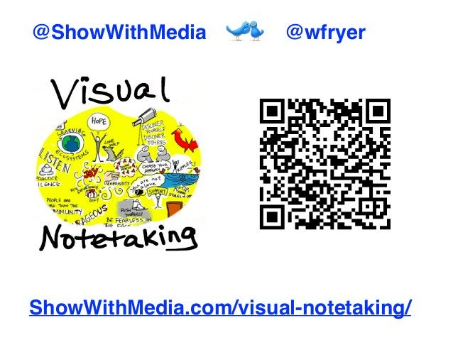 ShowWithMedia.com/visual-notetaking/ @ShowWithMedia @wfryer