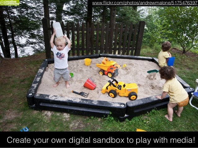 Create your own digital sandbox to play with media! www.flickr.com/photos/andrewmalone/5175476397
