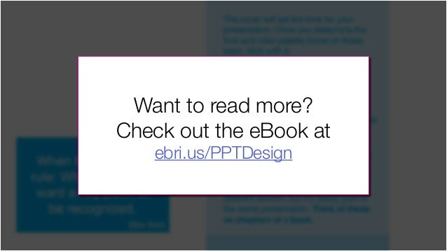 The cover will set the tone for your presentation. Once you determine the font and color palette (more on these later), st...