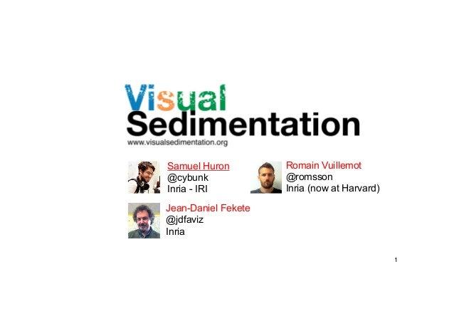 Samuel Huron @cybunk Inria - IRI  Romain Vuillemot @romsson Inria (now at Harvard)  Jean-Daniel Fekete @jdfaviz Inria 1!