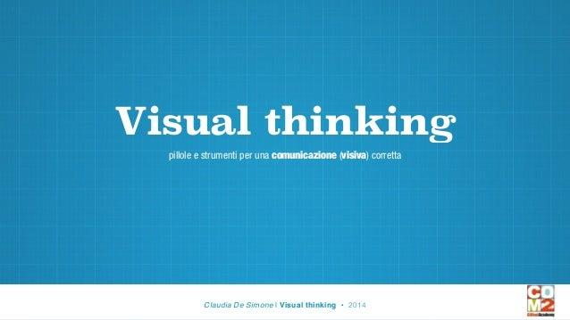 Visual thinking pillole e strumenti per una comunicazione (visiva) corretta Claudia De Simone | Visual thinking • 2014