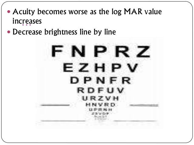 Visual acuity (2)