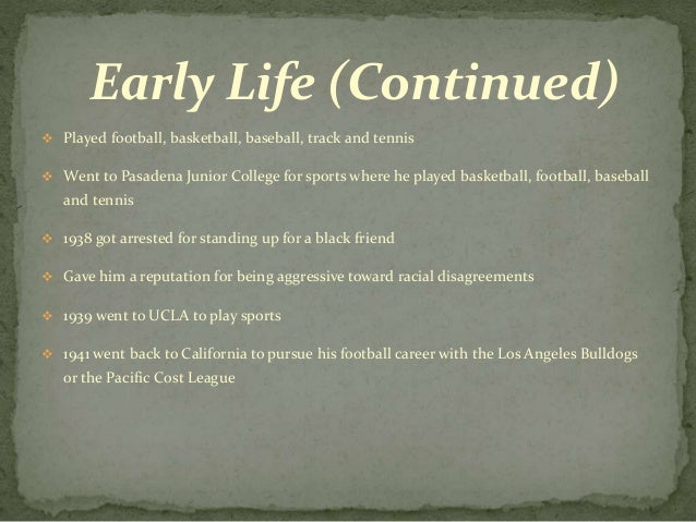 the life and early career of jack roosevelt robinson Jackie robinson- the life and legend: early life jack roosevelt robinson was born on january 31, 1919, in cairo, georgia.