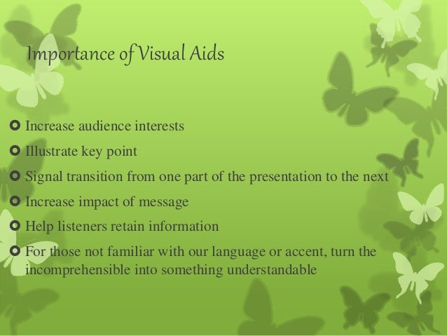 importance of visual aids in presentations