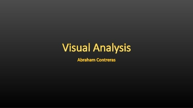 Visual anaalysis
