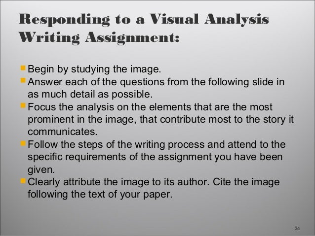 Analytical response to a visual image essay