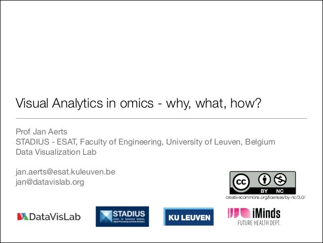 Visual Analytics in omics - why, what, how? Prof Jan Aerts  STADIUS - ESAT, Faculty of Engineering, University of Leuven, ...