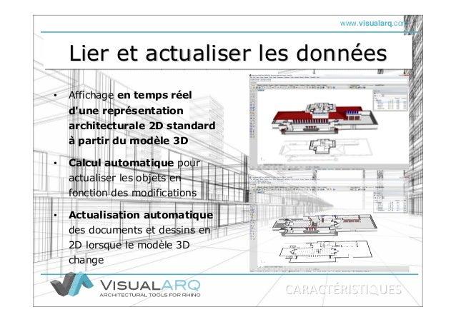 www.visualarq.com Lier et actualiser les donnéesLier et actualiser les donnLier et actualiser les donnééeses • Actualisati...