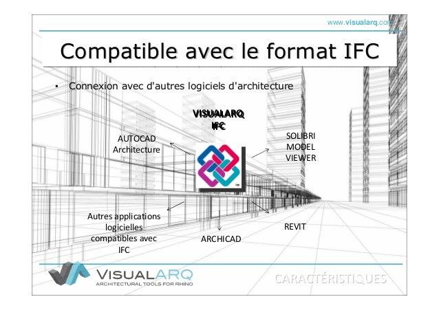 www.visualarq.com Compatible avec le format IFCCompatible avec le format IFCCompatible avec le format IFC • Connexion avec...