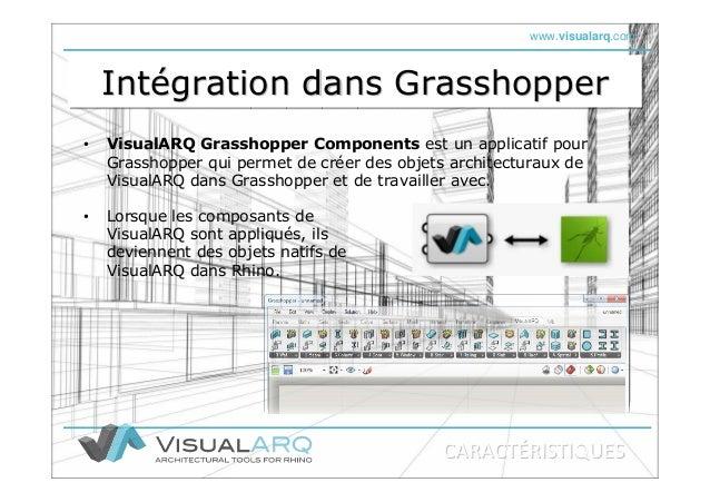 www.visualarq.com Intégration dans GrasshopperIntIntéégration dans Grasshoppergration dans Grasshopper • VisualARQ Grassho...