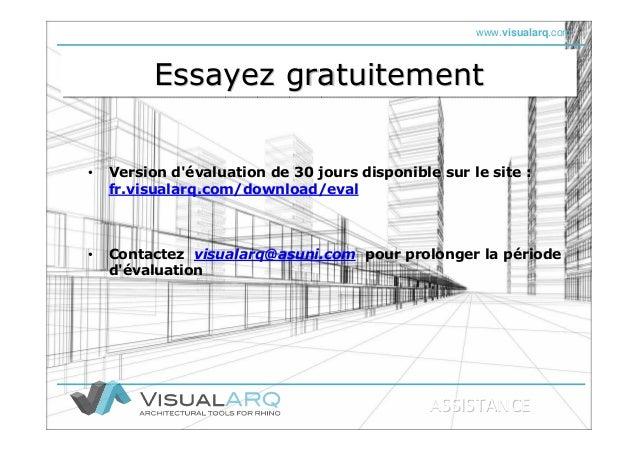 www.visualarq.com Essayez gratuitementEssayez gratuitementEssayez gratuitement • Version d'évaluation de 30 jours disponib...