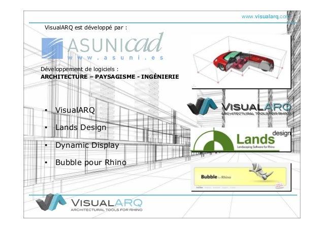 www.visualarq.com • Lands Design • Bubble pour Rhino Développement de logiciels : ARCHITECTURE – PAYSAGISME - INGÉNIERIE •...
