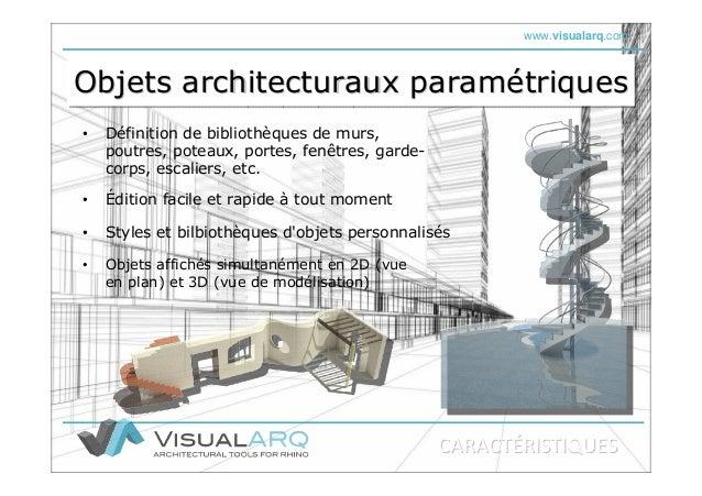 www.visualarq.com Objets architecturaux paramétriquesObjets architecturaux paramObjets architecturaux paraméétriquestrique...