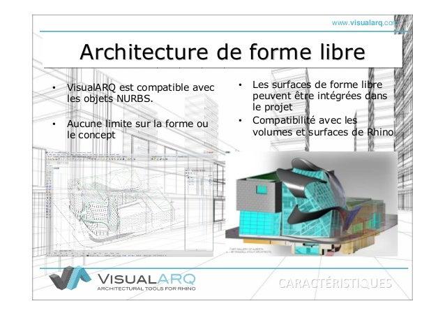 www.visualarq.com Architecture de forme libreArchitecture de forme libreArchitecture de forme libre • VisualARQ est compat...