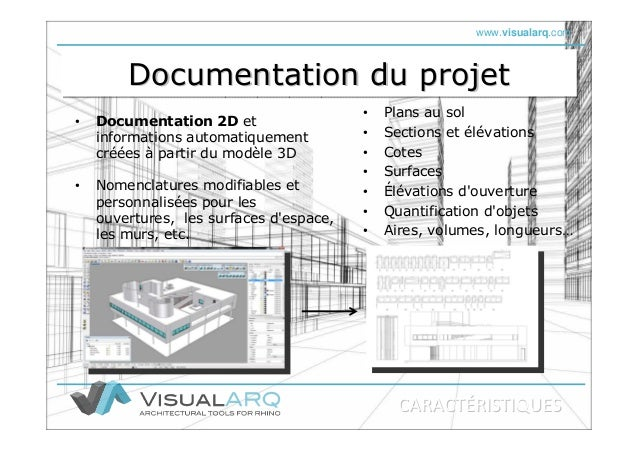 www.visualarq.com Documentation du projetDocumentation du projetDocumentation du projet • Documentation 2D et informations...