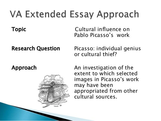 art extended essay questions This slideshow consists of sample extended essay questions arranged by group these questions were pulled from publicly available ib documents.