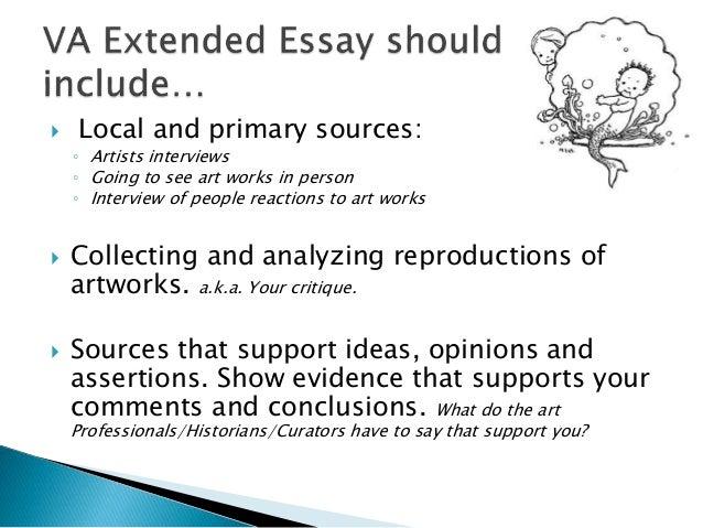 ib visual arts extended essay