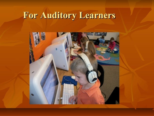 a comparison of visual and auditory learning Unlike most editing & proofreading services, we edit for everything: grammar, spelling, punctuation, idea flow, sentence structure, & more get started now.