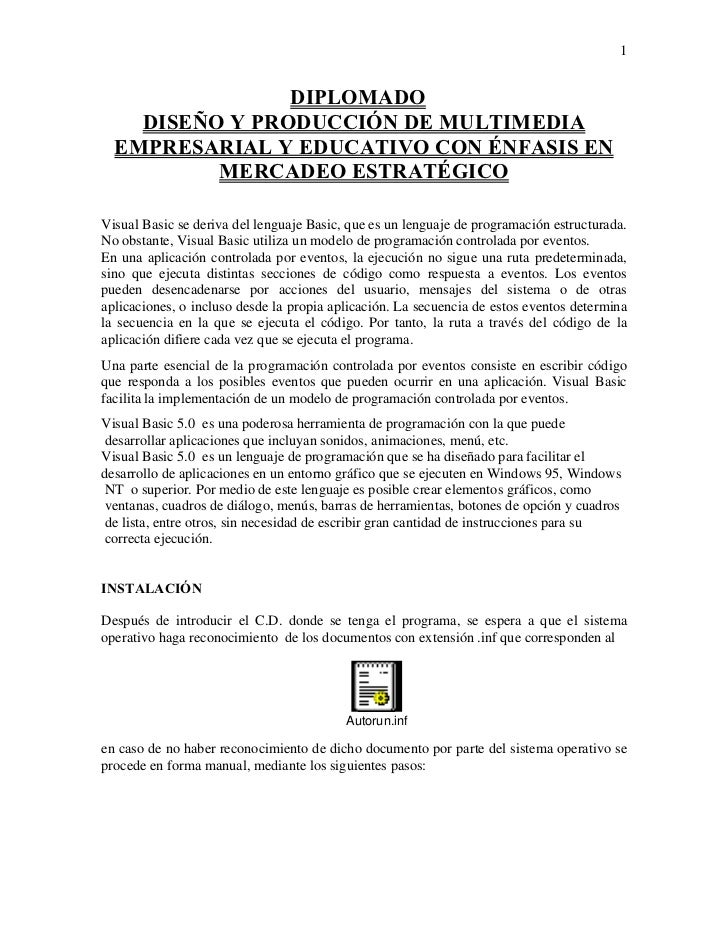1                DIPLOMADO    DISEÑO Y PRODUCCIÓN DE MULTIMEDIA  EMPRESARIAL Y EDUCATIVO CON ÉNFASIS EN          MERCADEO ...